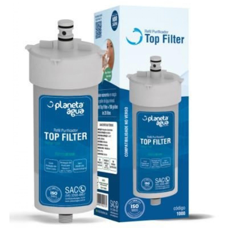 REFIL TOP FILTER SIMILAR PARA PURIFICADORES Top Filter Planeta Água, Durin H2O, Impac Cristal, Mallory e Mondial.