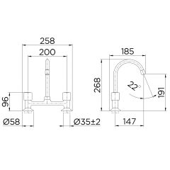 "00164360 - Misturador para cozinha 1/2"" Itapema Bella"